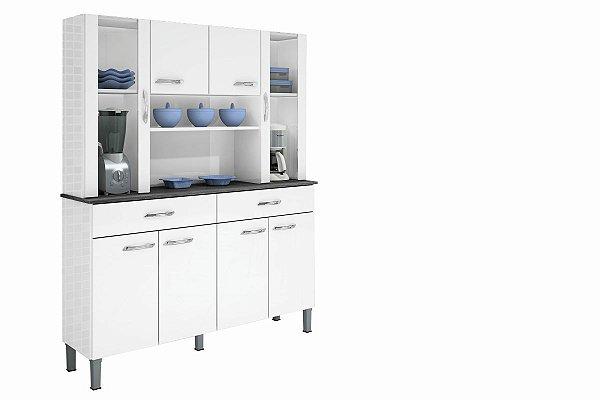 Armario De Cozinha Alfa 8 P Branco Sallêto