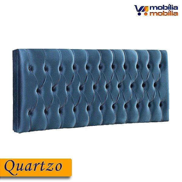 Cabeceira Quartzo 1,60MT Tecido Joly - Azul