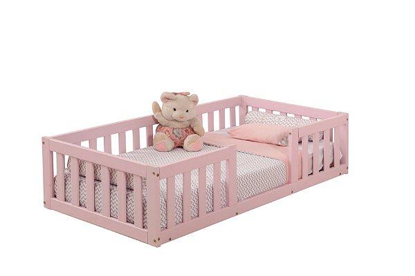 Cama Infantil com Grade Bia Rosa