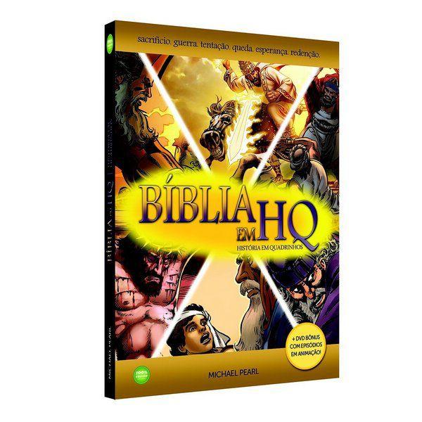 3 Bíblias em HQ (Capa Dura com 1 DVD) - grátis 3 livros!