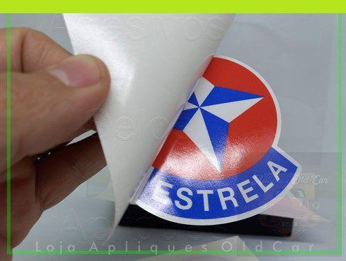 ADESIVO ESTRELA - RETRÔ - (COLAGEM INTERNA P/ VIDROS)