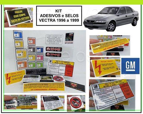 KIT ADESIVOS E SELOS VECTRA - 1996 a 1999  (KIT COMPLETO / TODAS AS VERSÕES)
