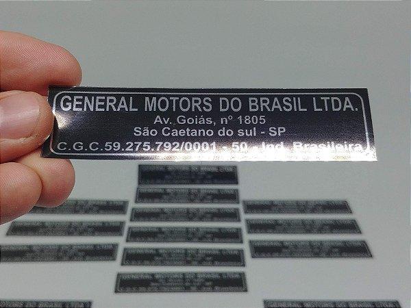 Adesivo MINI FRENTE - GENERAL MOTORS DO BRASIL LTDA - Tamanho Grande