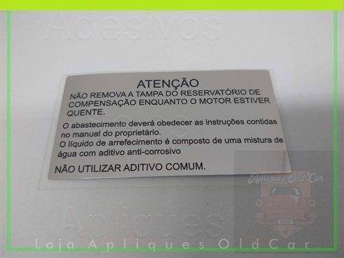 ADESIVO GOL G1 LATARIA MINI-FRENTE - INFORMATIVO (NÃO REMOVER A TAMPA DO RESERVATÓRIO DE COMPENSAÇÃO)