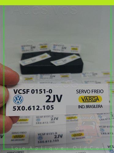 ADESIVO VARGA - HIDROVACUO / SERVO FREIO - GOL/PARATI/SAVEIRO/VOYAGEM - G1 e G2