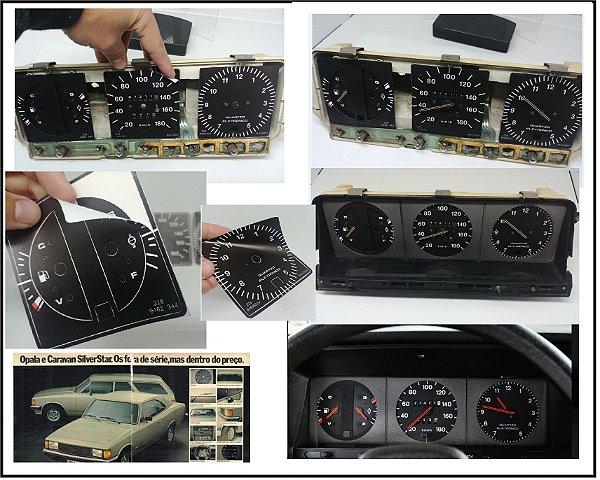 Kit de Apliques Painel de Instrumentos Opala / Caravan Linha SilverStar e Comodoro 1981 a 1983 - (Painel Velocímetro até 180KM)