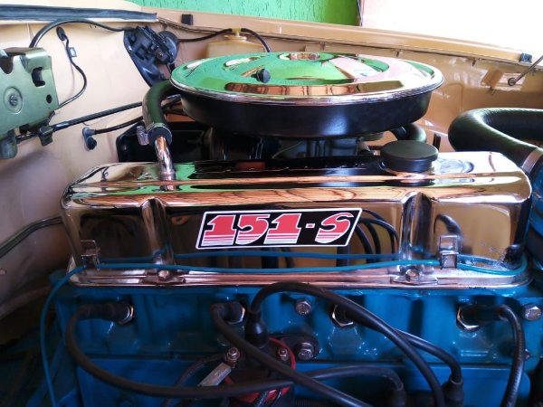 Adesivo Tampa de Válvulas - Motor 4cil. - 151-S (Motor Azul SS4) - Opala / Caravan (Motor Verde) 1975 a 1983