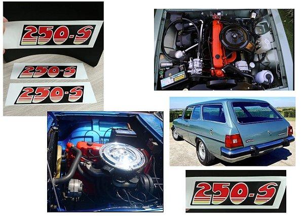 Adesivo Tampa de Válvulas - Motor 6cil - 250-S (Motor Vermelho SS6 e Comodoro) - Opala / Caravan 1976 a 1981