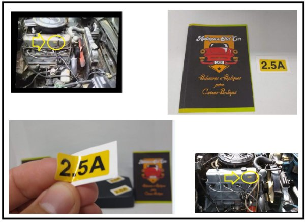 ADESIVO 2.5A - TAMPA DE VÁLVULAS COMODORO / DIPLOMATA - 4cil Álcool - MOTOR CINZA RETENTOR