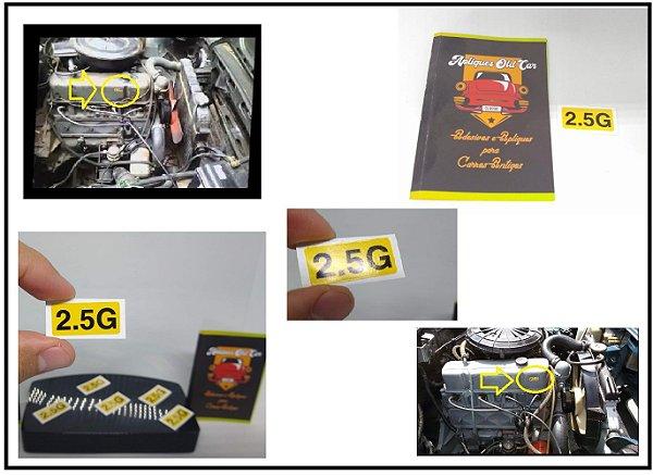ADESIVO 2.5G - TAMPA DE VÁLVULAS COMODORO / DIPLOMATA - 4cil Gasolina - MOTOR CINZA RETENTOR