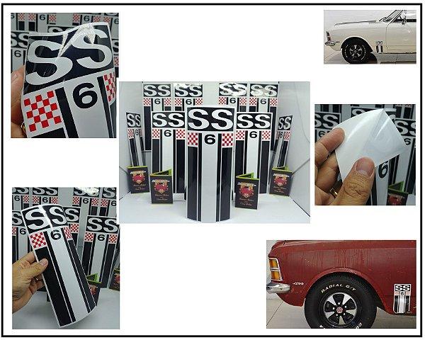 Adesivos SS6 - Modelo Bandeira Faixa Vertical (Par LE / LD) - PADRÃO OFICIAL - COR e TAMANHO