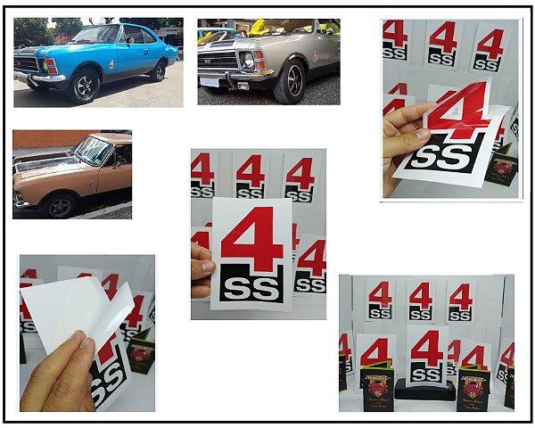 PAR ADESIVOS 4SS - SS75 e SS76  (Par LE / LD) - PADRÃO OFICIAL - COR e TAMANHO