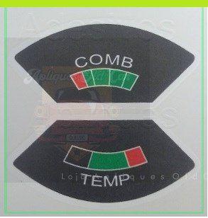 Aplique Combustível  e Temperatura - COMB TEMP - Opala / Caravan até 1980