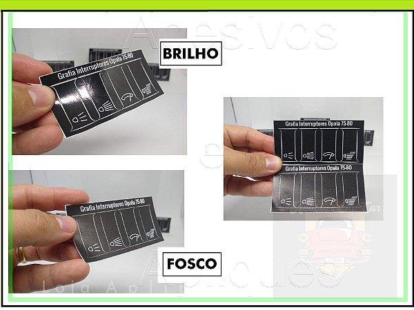Kit Apliques Grafia dos Botões / Interruptores - Painel Opala e Caravan 75 a 80