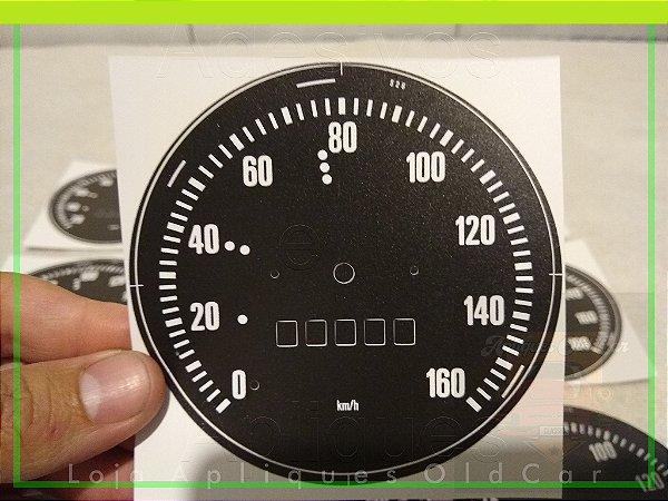 Aplique Adesivo Velocímetro : C14, C15, D10 - Marcação 160KM