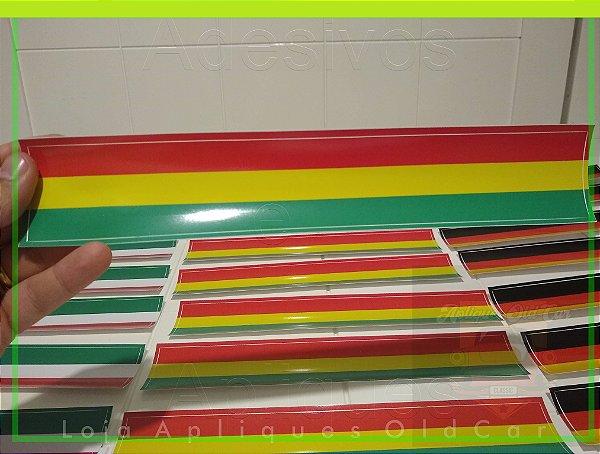 Adesivo Faixa Decorativa Cores - (Vermelho, Amarelo, Verde) - Faixa 30cm_x_5cm