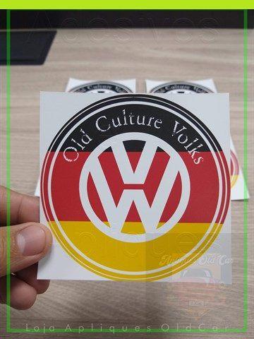 Adesivo OLD CULTURE VOLKS - Cores da Alemanha - Adesivo Decorativo