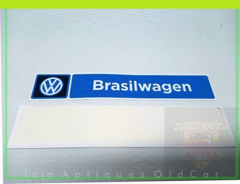 ADESIVO CONCESSIONÁRIA VOLKSWAGEN - BRASILWAGEN  - (REVERSO - COLAGEM INTERNA NO VIDRO)