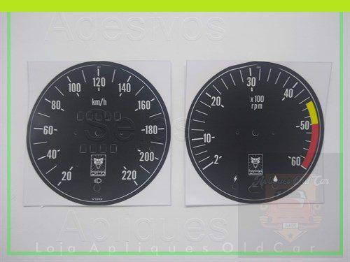APLIQUES VELOCÍMETRO E CONTA-GIROS - PUMA GTE  GTS - Série 2 (74 Até 79)