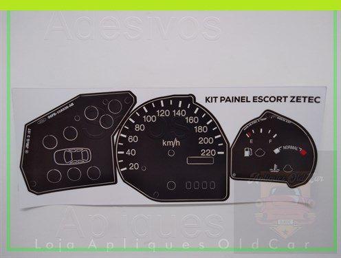 KIT APLIQUES PAINEL DE INSTRUMENTOS ESCORT ZETEC - 99 a 03 - PAINEL COMPLETO