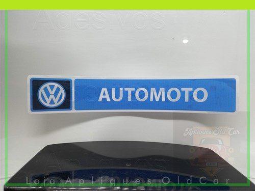 ADESIVO CONCESSIONÁRIA VOLKSWAGEN - AUTOMOTO  - (REVERSO - COLAGEM INTERNA NO VIDRO)