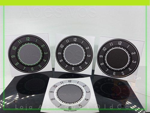 APLIQUE RELÓGIO DE HORAS - VW FUSCA e KOMBI LINHA 70 (Máscara p/ Envelopamento - 55mm)