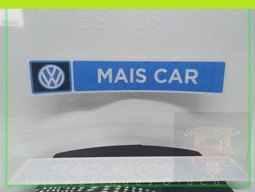 ADESIVO CONCESSIONÁRIA VOLKSWAGEN - MAIS CAR - (REVERSO - COLAGEM INTERNA NO VIDRO)