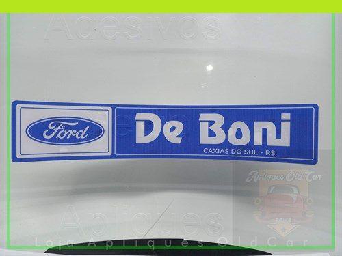 ADESIVO CONCESSIONÁRIA FORD - DE BONI  (REVERSO - COLAGEM INTERNA NO VIDRO)