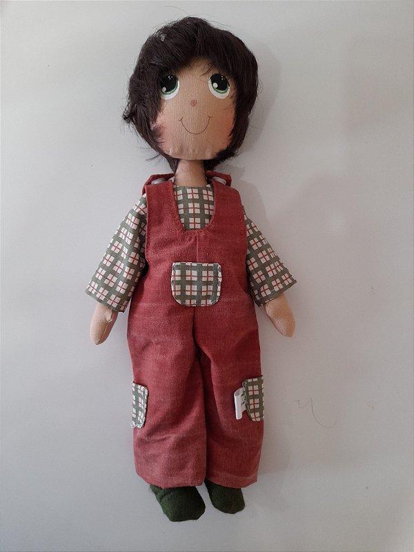 Boneca Boneco de pano artesanal menino