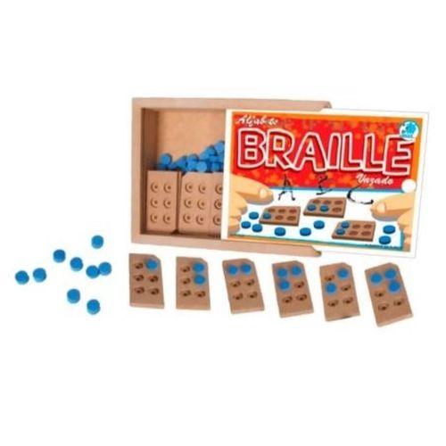 ALFABETO BRAILLE VAZADO - Brinquedo Educativo Alfabetização