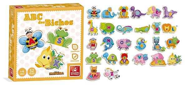 ABC dos bichos  quebra cabeça alfabeto ilustrado