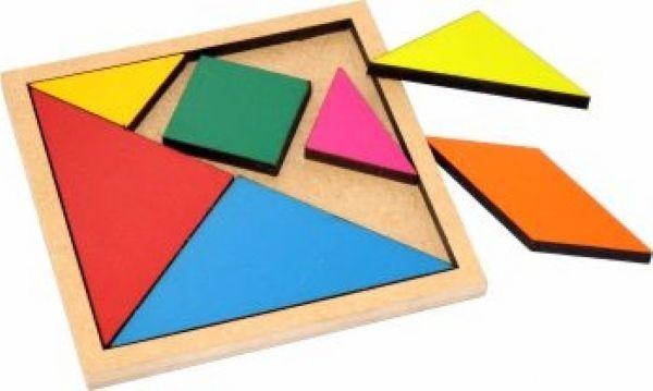 Tangran Colorido Quebra-cabeça Chinês - 1000 formas de montar Brinquedo Educativo