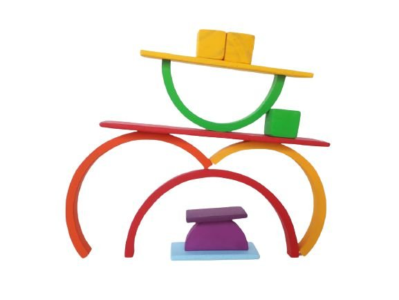 Kit Waldorf blocos de montar 23 peças Brinquedo educativo melhor quebra-cabeça!
