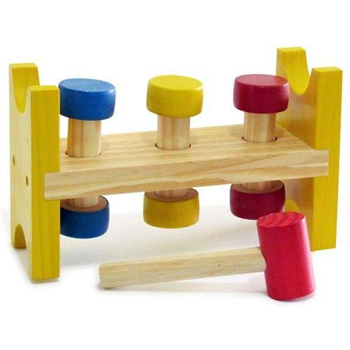 BATE PINOS BABY - WOODTOYS - Brinquedo educativo coordenação e percepção espacial