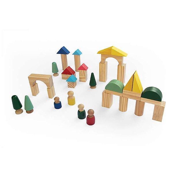 Cidadela - cenário em madeira Montar a sua própria cidade criativa