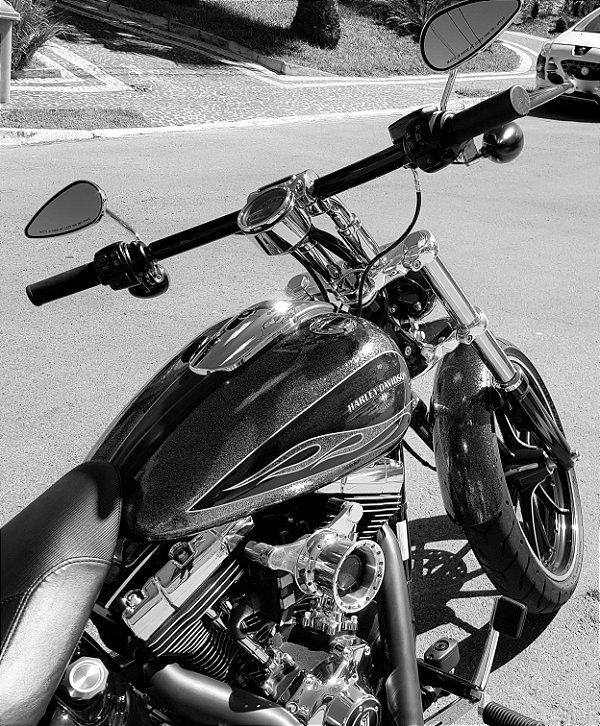 Filtro de ar  modelo INTAKE II para toda linha Harley Davidson com suporte em alumínio para motor 103/ Velocity Stack with air filter for 103 engine  - INTAKE II model