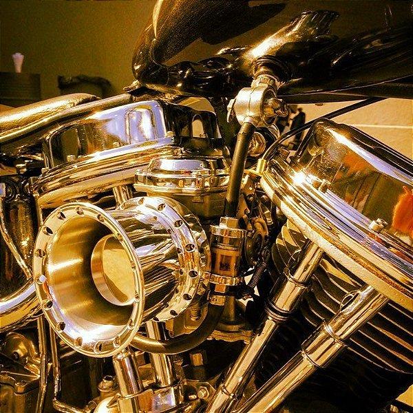 Filtro de ar  modelo INTAKE II para toda linha Harley Davidson / Velocity Stack with air filter  - INTAKE II model