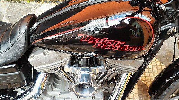 Filtro de ar para Harley Davidson modelo INTAKE II com suporte em alumínio usinado / Velocity Stack with air filter - INTAKE II with aluminum machined bracket model.