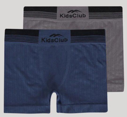 Kit 2 Cuecas Boxer Infantil Sem Costura Kids Club DelRio Marinho e Mescla