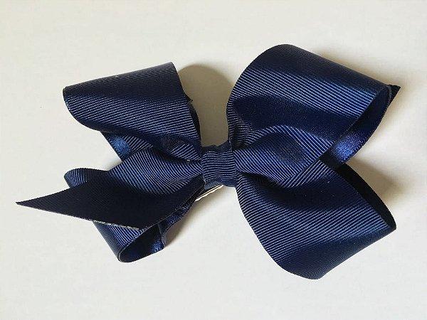 Bico de pato laço laçado G de gorgurão engomado - Azul Marinho