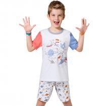Pijama Colorir Espacial