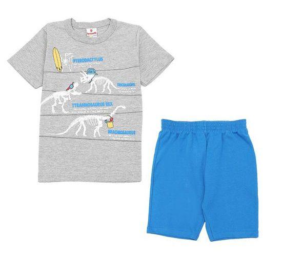 Conjunto Camiseta Dinossauro e Bermuda Brandili Baby