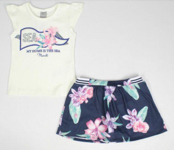Conjunto Shorts Saia Floral Mundi