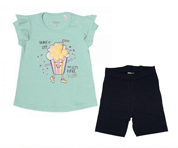 Conjunto Blusa e Shorts Cotton Minore