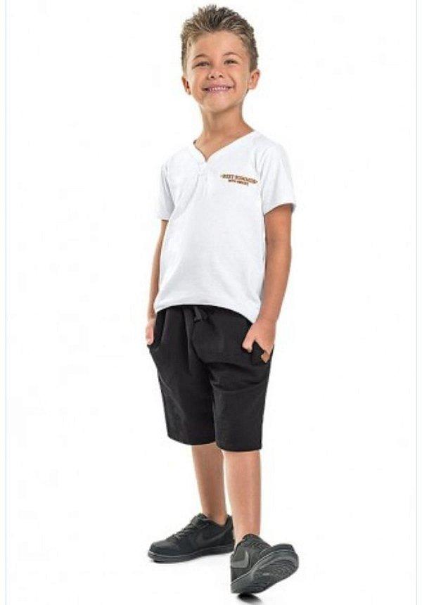 Conjunto Camiseta e Bermuda Moletinho Minore