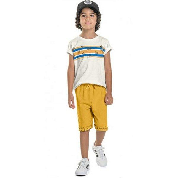Conjunto Verão Camiseta e Bermuda Moletinho Minore