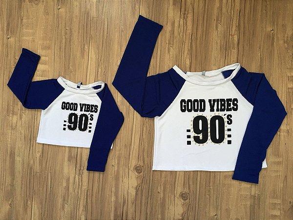 Camiseta Good Vibes - KIT MÃE + FILHA (medidas na descrição)