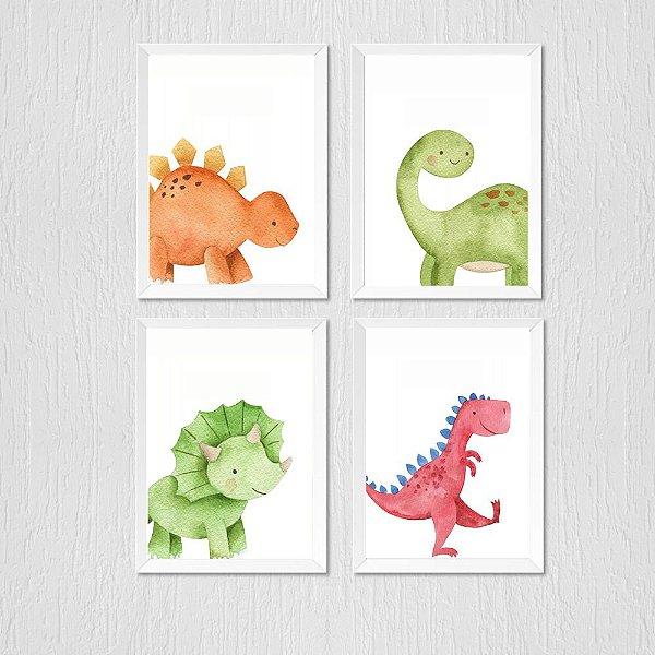 Kit Quadro Infantil Baby Menino Dinossauro