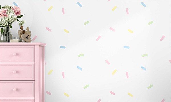 Adesivo de Parede Infantil Confeitos Coloridos