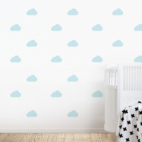 Adesivo de Parede Nuvem Azul Bebê